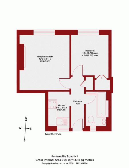 Floorplan of Pentonville Road, Islington, London, N1 9HJ